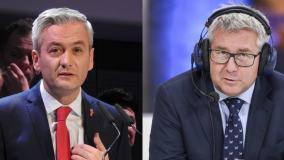 Czarnecki i Biedroń wzajemnie zarzucają sobie kłamstwo. Poszło o jeden e-mail
