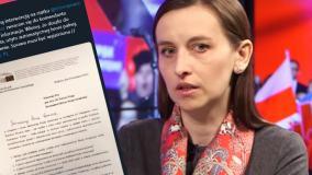 Spurek pisała o użyciu broni palnej przez Straż Graniczną na statku Greenpeace. Musiała się wytłumaczyć