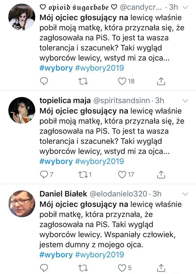 Twitter wybory 2019
