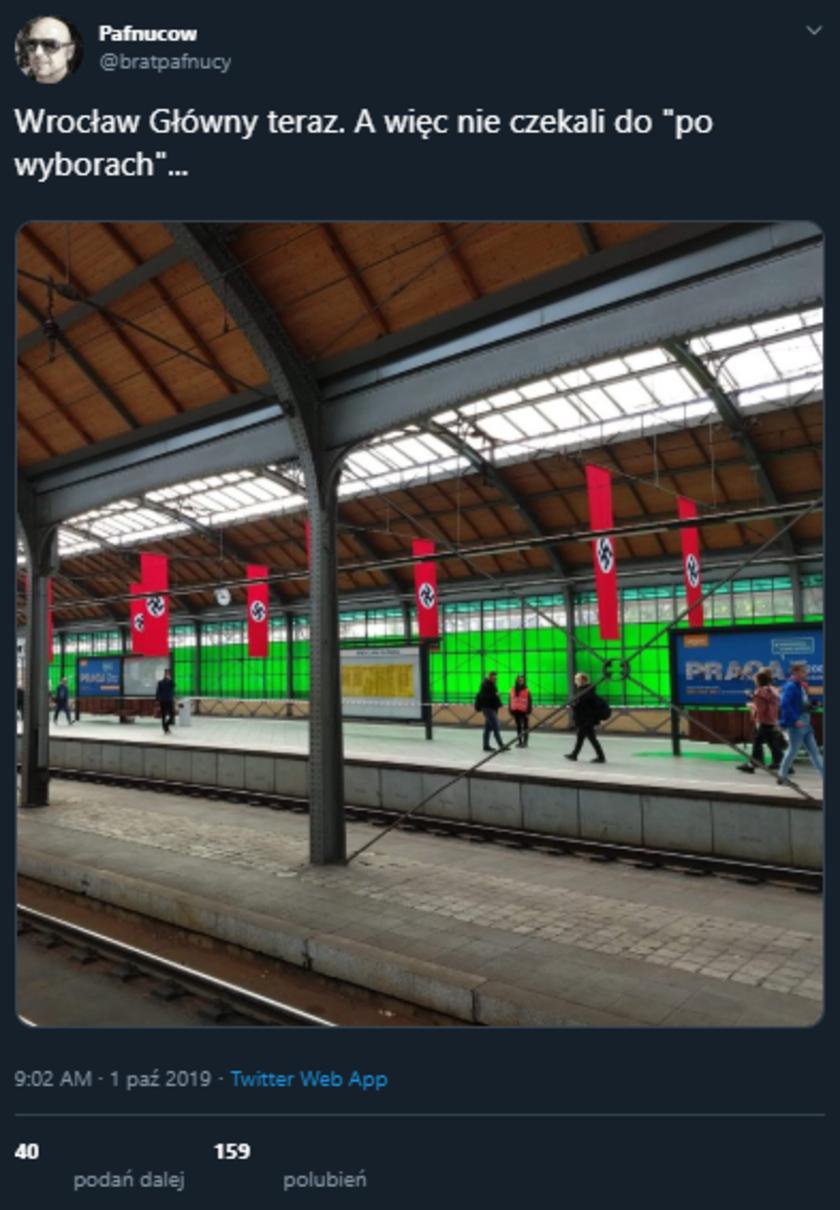 Dworzec Główny we Wrocławiu Twitter