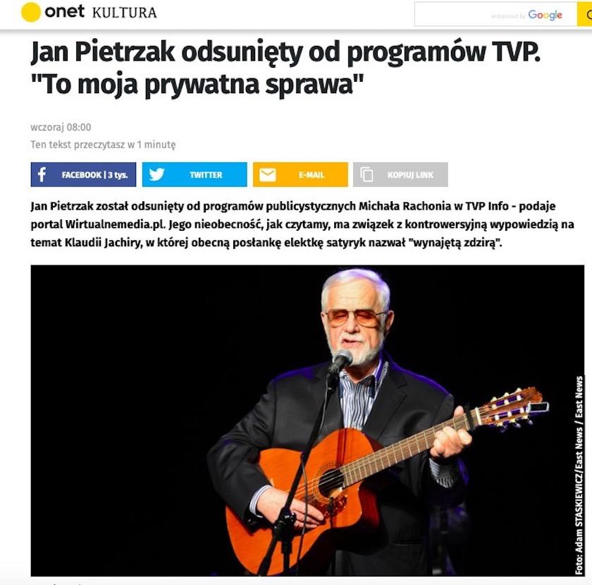 Jan Pietrzak Onet
