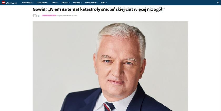 Katastrofa smoleńska J. Gowin