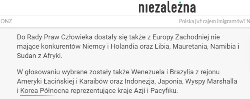Korea Północna fake news