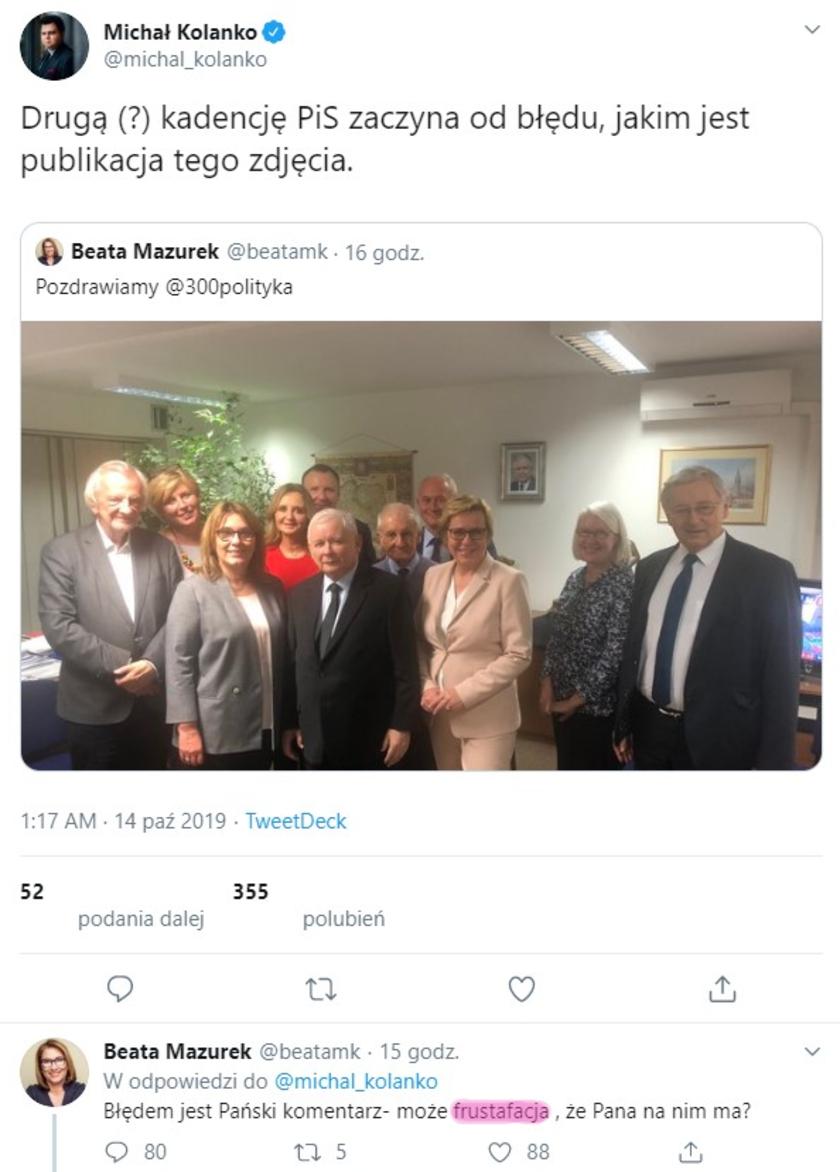Lech Wałęsa Beata Mazurek