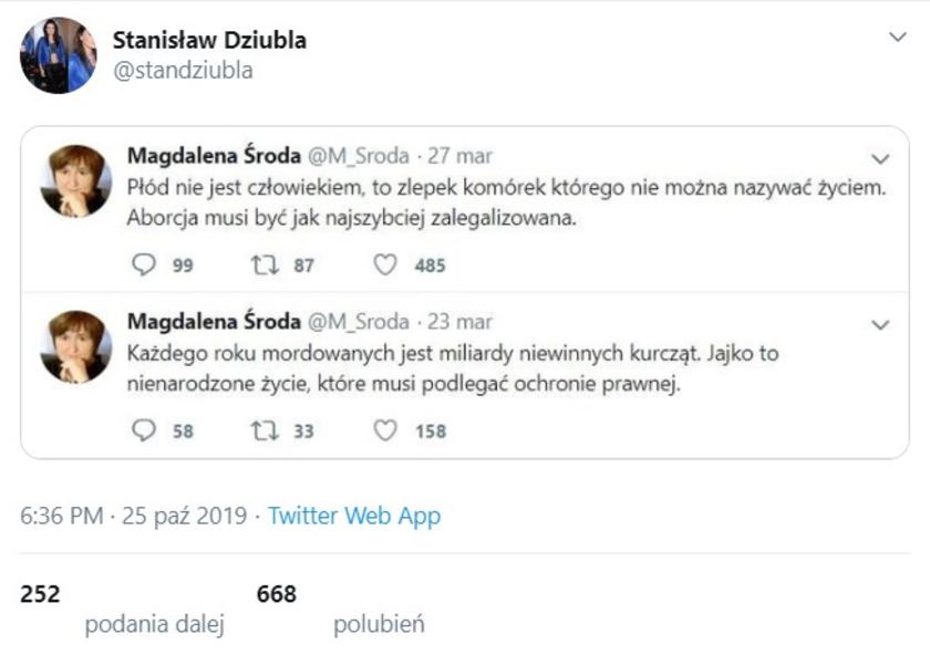 Magdalena Środa fejk