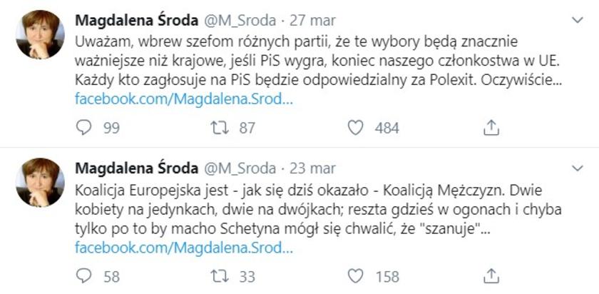 Magdalena Środa Twitter