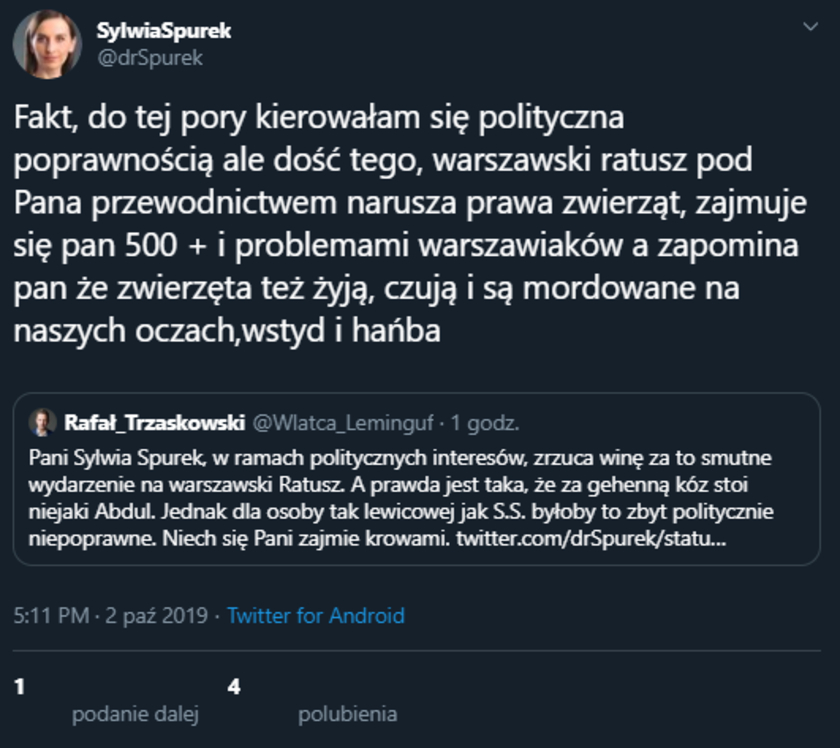Sylwia Spurek fake konto