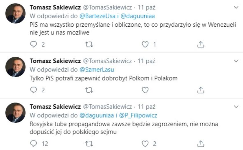 Tomasz Sakiewicz fejk konto