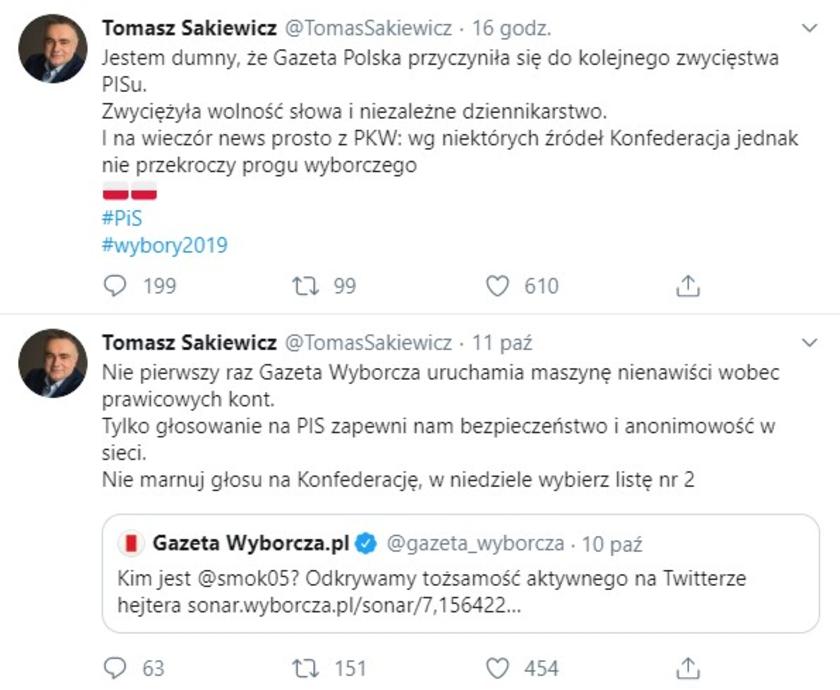 Tomasz Sakiewicz fejk