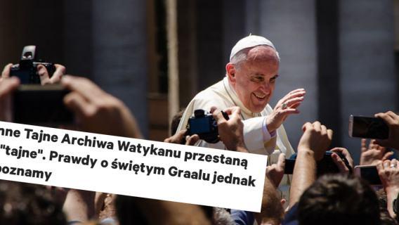 Watykan w końcu odtajnił największe tajemnice? Media mogły wprowadzić w błąd