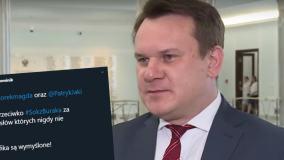 Fałszywy tweet i podrobiony pasek TVP z Dominikiem Tarczyńskim. Poseł zapowiada pozew