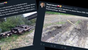 Ogromne rury nad Wisłą to odpady z budowy metra? Oficjalny komunikat przeczy twierdzeniom posła PiS