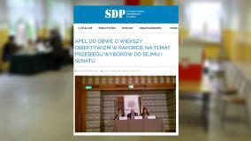 Stowarzyszenie Dziennikarzy Polskich odpowiedziało OBWE. Wzięto w obronę przede wszystkim TVP