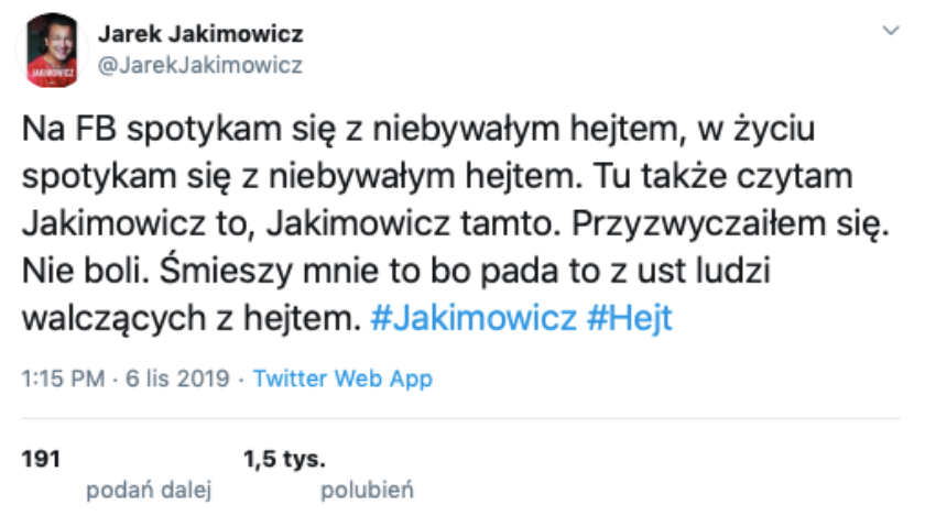 Jarosław Jakimowicz fake