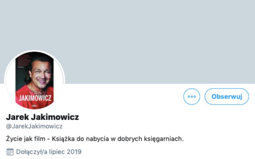 Jarosław Jakimowicz Twitter