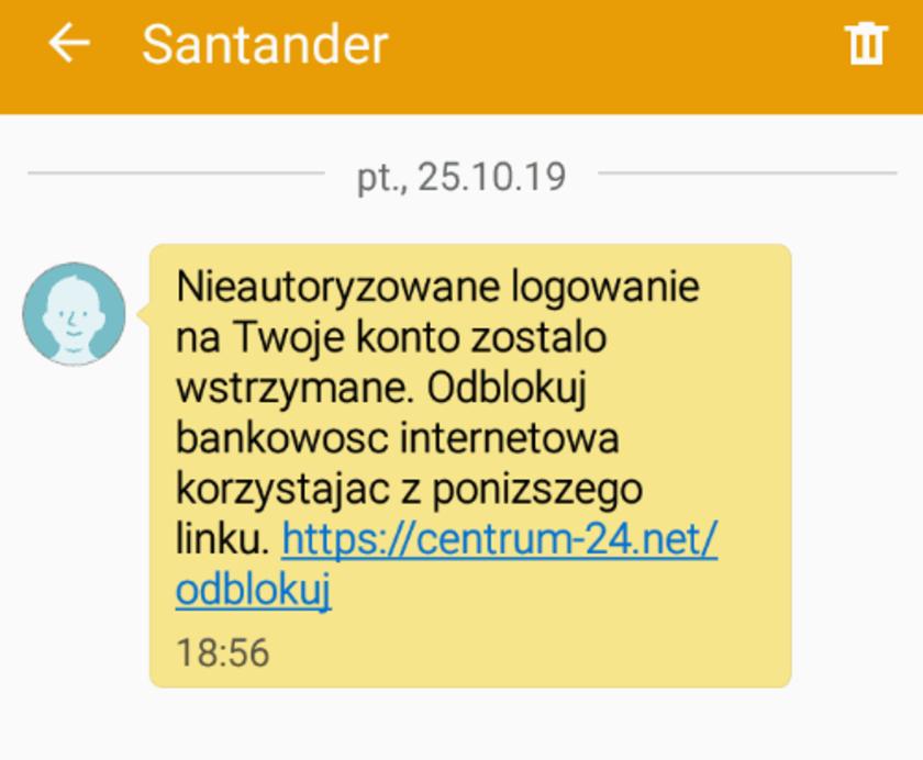 Santander Bank Polska ostrzeżenie