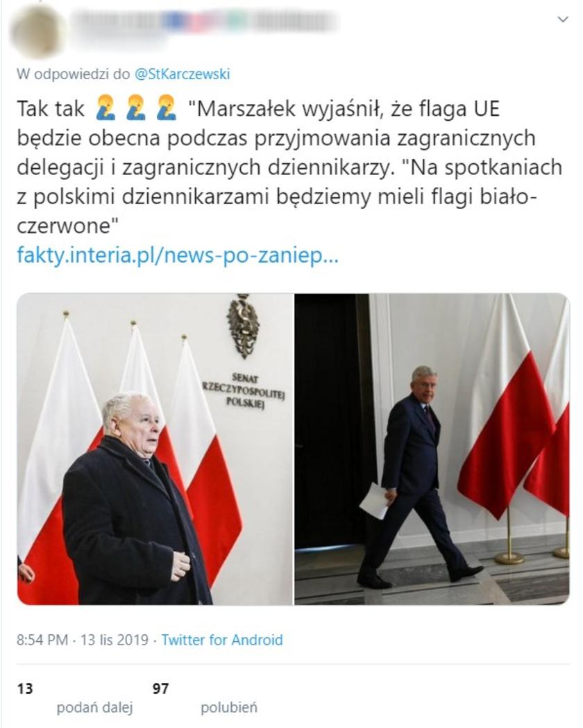 Stanisław Karczewski flaga
