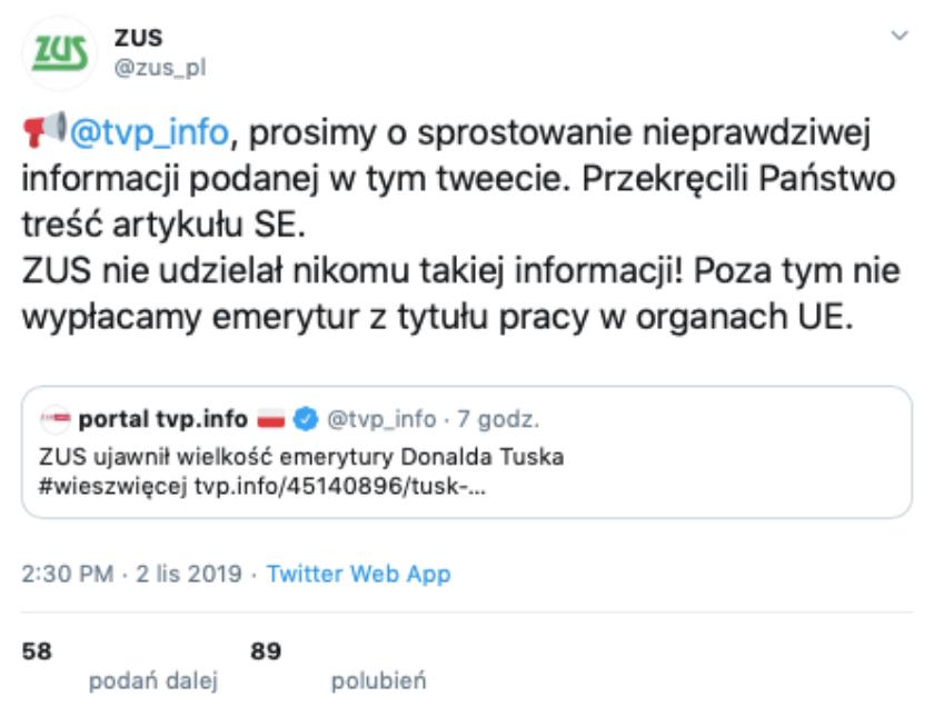 ZUS Twitter