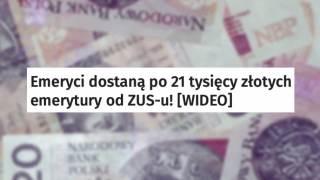 Emerytury ZUS