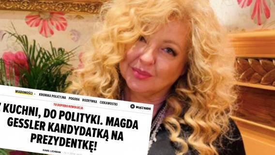 Magda Gessler wybory prezydenckie