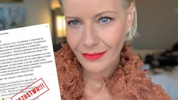 Małgorzata Kożuchowska padła ofiarą przestępstwa. Jej fani też mogli zostać oszukani