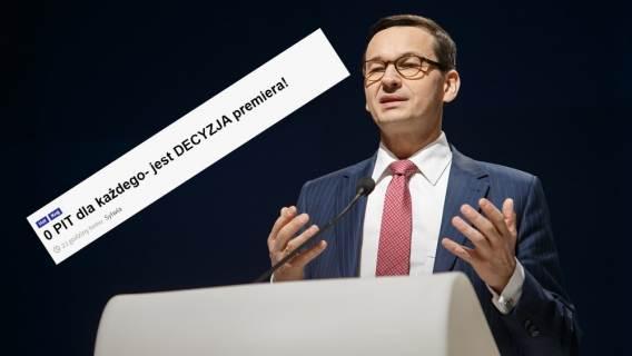 Zerowy PIT Mateusz Morawiecki