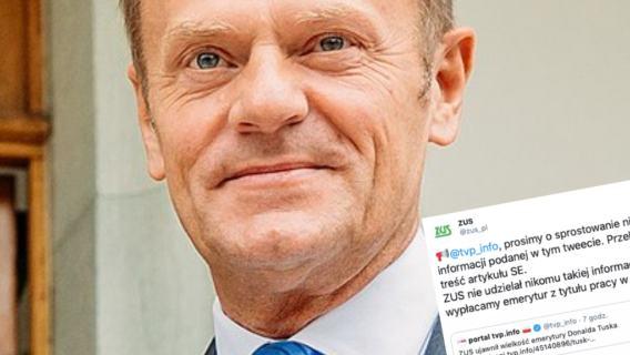 ZUS ujawnił wysokość emerytury Donalda Tuska? TVP przyłapane na kłamstwie