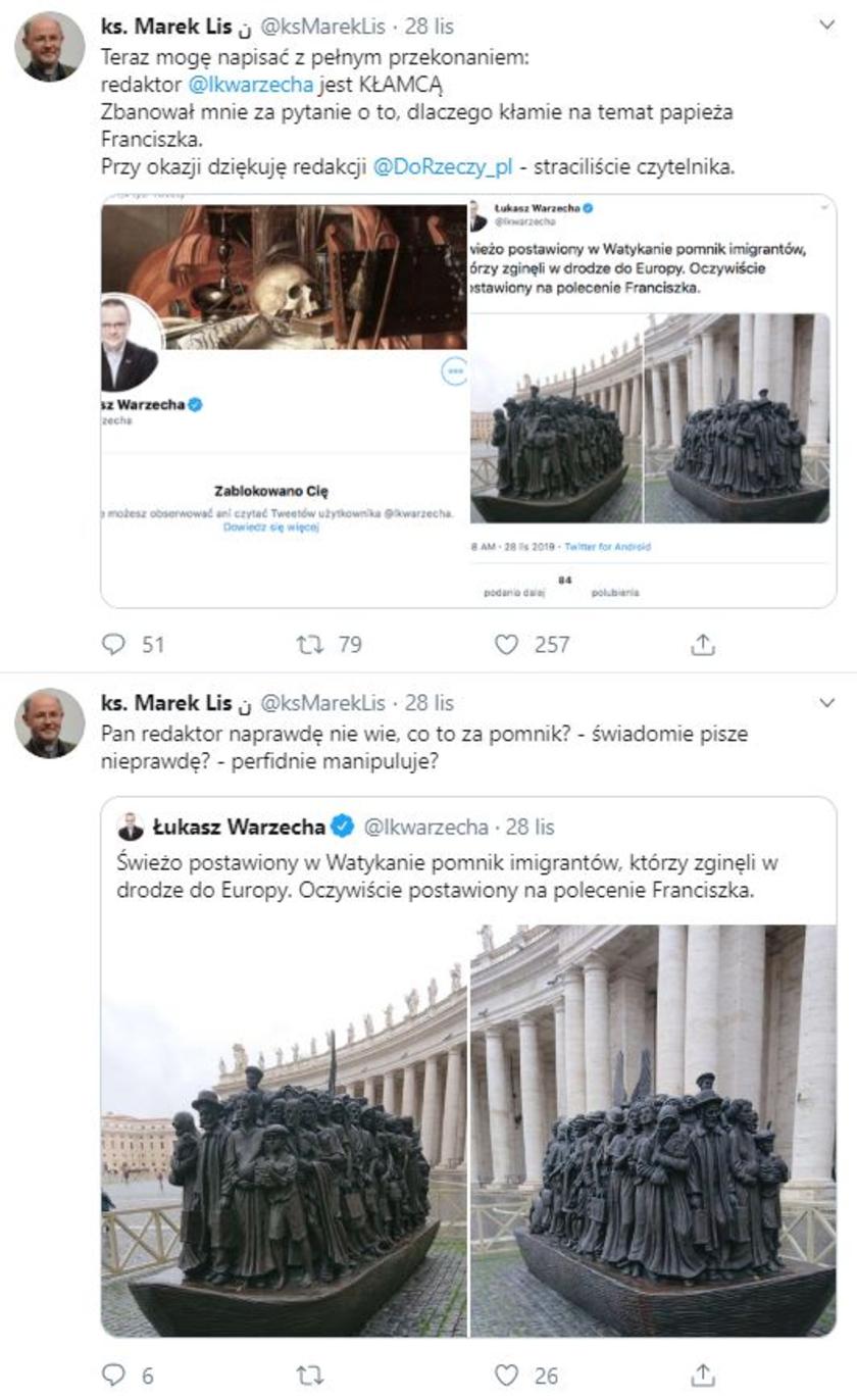 Papież Franciszek Twitter
