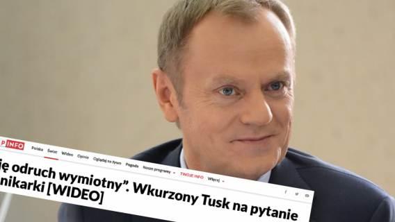 """TVP Info włożyło w usta Donalda Tuska słowa, których nie wypowiedział. Poszło o """"odruch wymiotny"""""""