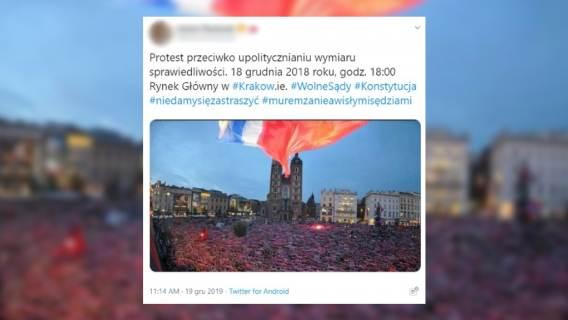 kraków protest