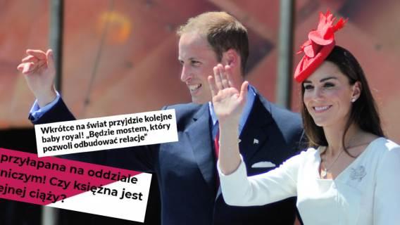 Media ogłosiły, że księżna Kate jest w ciąży. Wszystko przez to, że w tajemnicy przepracowała dwa dni