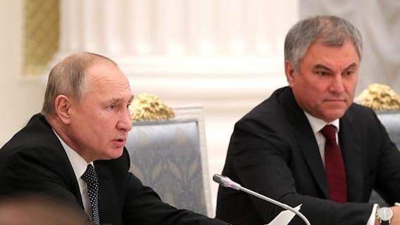 Wiaczesław Wołodin Władimir Putin