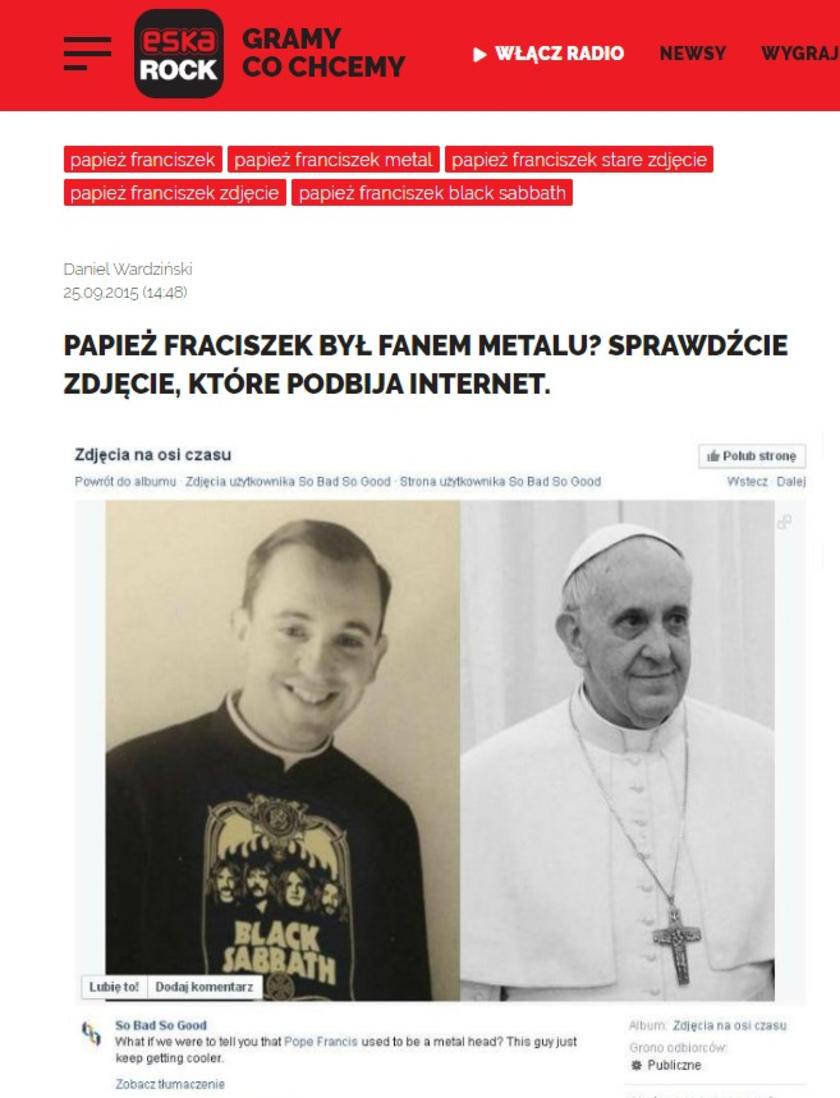 Papież Franciszek zdjęcie