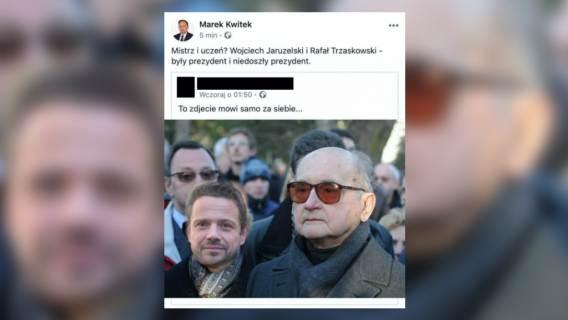 Rafał Trzaskowski na fotomontażu.