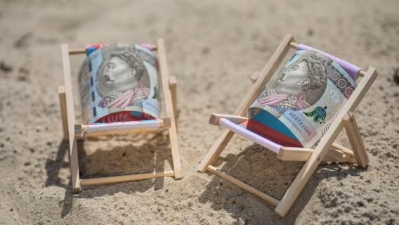 Pieniądze na wakacje.