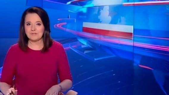 Danuta Holecka w Wiadomościach TVP