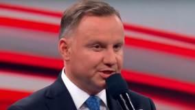 Andrzej Duda podczas debaty prezydenckiej w Końskich