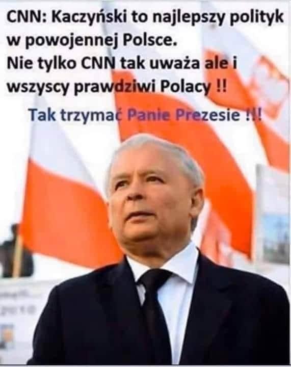 Jarosław Kaczyński - fałszywa grafika.