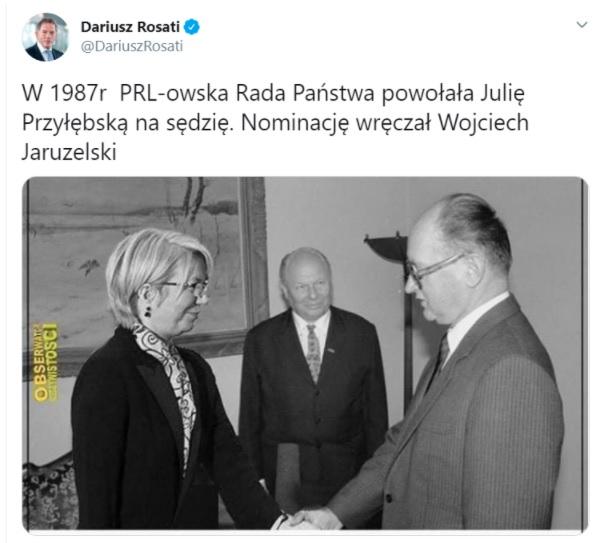 Dariusz Rosati - Twitter.