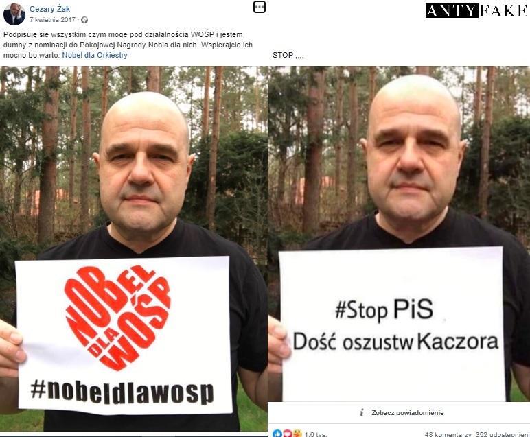Aktor Czary Żak.