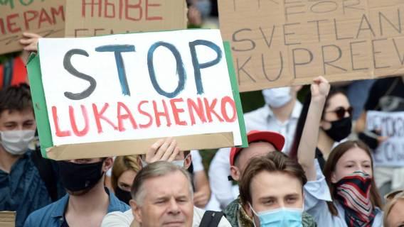 Marsz Solidarności z Bialorusią, który został zorganizowany przez Dom Bialoruski.