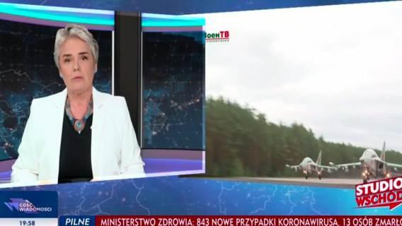 """W TVP Info pomylono flagi. Tłumaczenie: """"bez wpływu na merytoryczną część programu"""""""