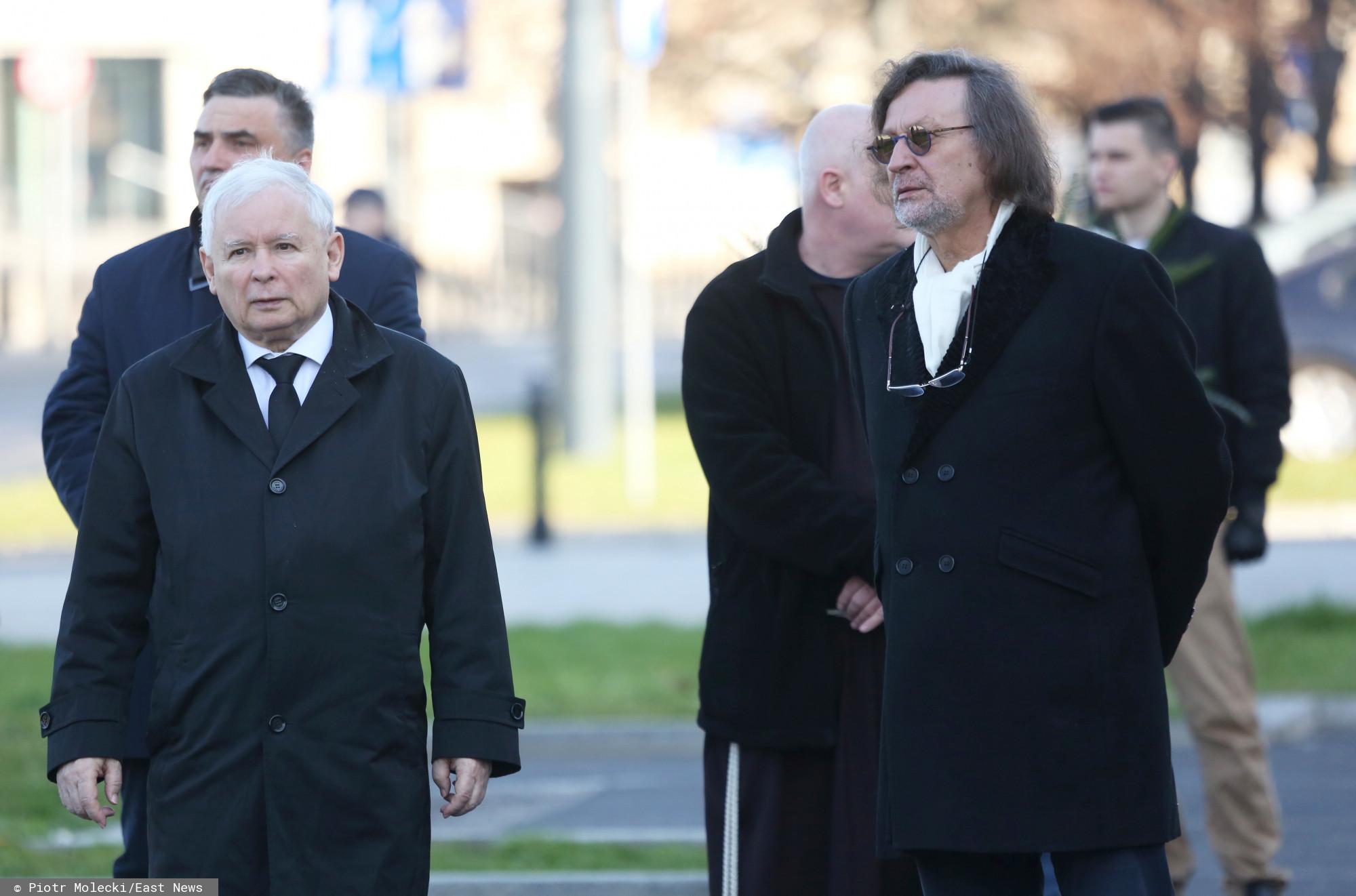 Jarosław Kaczyński i Jan Maria Tomaszewski.