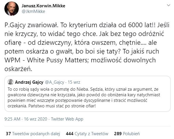 Korwin-Mikke - Twitter.