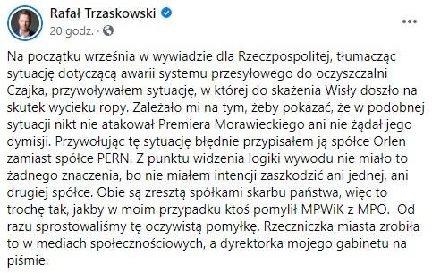 Rafał Trzaskowski - Facebook