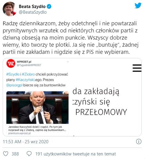 Beata Szydło - Twitter
