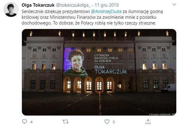 tokarczuk - pałac prezydencki