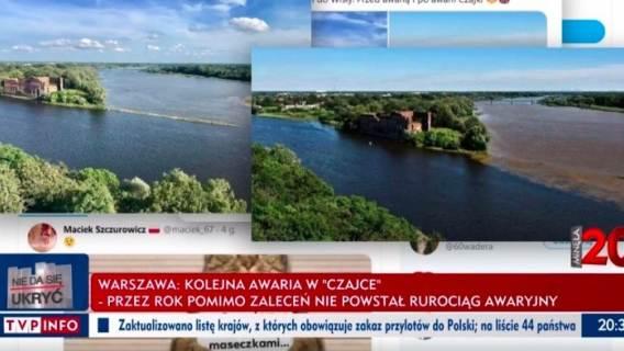 Zmanipulowane zdjęcie, które miało przedstawić zanieczyszczenie wody ściekami z