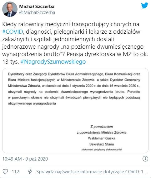 Michał Szczerba - Twitter