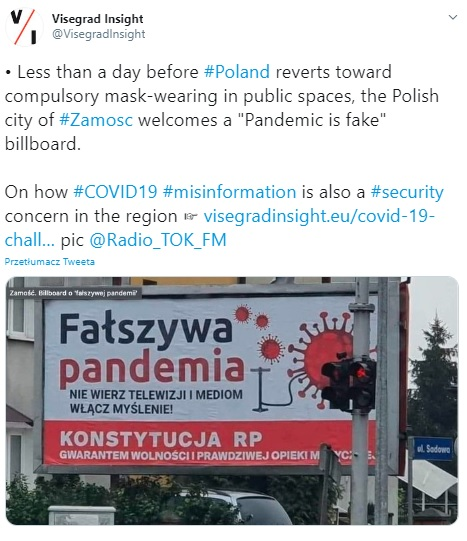 Pandemia - koronasceptycy
